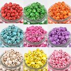 Wholesale 100PCS Turquoise Carved Skull Head Howlite Spacer Loose Beads