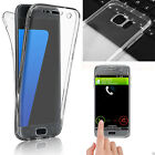 For Samsung S6 S7 S8 Edge Shockproof 360° Silicone Protector Clear Case Cover N