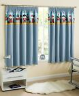 PIRATE KIDS NURSERY CURTAINS PAIR THERMAL BLOCKOUT PENCIL PLEAT BLUE