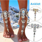 Romantic Multi Color Crystal Bridal Foot Jewelry Alloy Anklet Gifts Ladies Beach