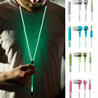 Luminous Glowing Headphone Earphone Headset Zipper In-Ear Earbud Headphone gifts
