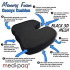 Memory Foam Orthopedic Coccyx Seat Cushion Lumbar Tail Bone Support Pain Relief