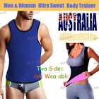 Lady&Mens Hot Slimming Sweat Shirt Body Shaper for Weight Loss Waist Cincher AU