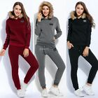 New Women Thicken Fleece Hooded Long Sleeve Pullover Hoodie And Drawstring B20E