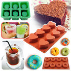 Shot Glass Silicone Mold Ice Cube Heart Cookie Treats Desserts Baking Cake Pan