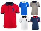 Boys US Polo USPA Motif Short Sleeve Cotton Polo Collar T-Shirt Tee 3 - 12 Years
