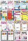 GENERAL Happy BIRTHDAY Party Invitations&Envelopes Boy Male Girl Female Invite 2
