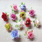 Artificial Flowers Mini Rose Head Use For Wedding Home Decoration DIY 6 Colors