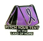 Purple Ribbon Hope Tent Pin Awareness Pancreatic Many Cancer Cause Themes New
