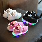 Fashion Kids Boys Girls LED Light Up Sport Mesh Casual Soft Toddler Child Shoes