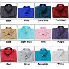 Shirt Mens Thai Silk S M L XL 2XL /Short or Long Sleeve /Dress Casual Formal
