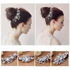 New Bridal Jewellery Silver Rhinestone Crystal Wedding Pearls Hair Comb Clip B