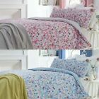 SUNNY MODERN WATERCOLOUR FLORAL BEDDING EASY CARE DUVET COVERS ALL SIZES