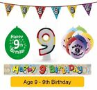 AGE 9 - Froh 9th Geburtstagsparty Banner, Ballons & Dekorationen