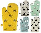 ANIMAL PRINTED SINGLE OVEN GLOVE MITT HEAVY DUTY HEAT RESISTANT 100% COTTON