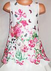 GIRLS PINK BUTTERFLY GARDEN PRINT LACE CHIFFON SPECIAL OCCASION PARTY DRESS