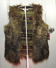 Mossimo Faux Fur Vest Taupe Brown Black size XS S M L or XL New NWT [GS]