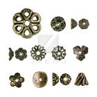 25-500pcs Antique Brass End Bead Cap Metal Flower Round Cone Jewellery Findings