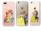 Luxury Fairy Tale Disney Beauty And The Beast Hard Back Cover Case For iPhone