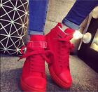 Women's Korean Style Sneakers Girls Fashion Canvas Lace Up High Top Canvas Shoes