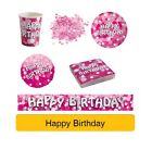 PINK SPARKLE Birthday Party Range AGE BANNERS - Tableware Banners Decs AMSCAN