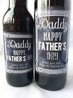 Personalised Father's Fathers Day Chalkboard Design Wine and Beer Bottle Label
