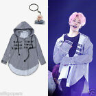 KPOP BTS JIMIN Striped Shirt Bangtan Boys Wings Fansigning Embroidery Blouse New