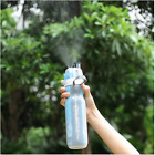 Sport Insulated Double Wall Mist Spray Water Bottle Cycling Outdoor Cup Uprated