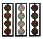"Benzara Set/3 Designer Wood decor Wall decor Sculpture 35""x12"""
