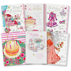 Female Girl General Happy Birthday Love Shoes Floral Cake Greeting Card