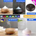 Essential Ultrasonic Air Aroma Humidifier Wooden Purifier Aromatherapy Diffuser