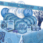 AGE 60 - Happy 60th Birthday BLUE GLITZ - Party Range, Banners & Decorations