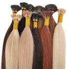 50g 100pcs 100% Remy Real I-Tip Human Hair Extensions + Micro Beads Hairpiece