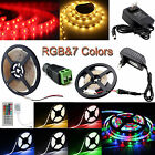 1-5M Waterproof LED Strip Light 3528 SMD Flexible RGB+ Remote & 12V Power Supply