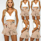 Fashion Womens Ladies High Waist Summer Casual Floral Beach Hot Pants Shorts
