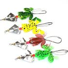 Cute Frog-Fishing Lure Crankbait Hooks Bass-Floating Simulation Frog-Bait Tackle