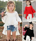 Baby Girls Kids Toddler Flouncing Dress Pageant Dresses Outfit Tops Skirt Party