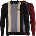 Gabicci Vintage Mens Knitted Polo Shirt Knitwear Long Sleeved Top Sizes S-3XL