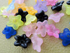 9mm 100/200/300/500pcs FROSTED ASSORTED COLORS ACRYLIC FLOWER BEADS CC5372