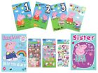 PEPPA PIG Birthday Cards - Card/Party/Greetings Cards/Age/1/2/3/Gift Wrap