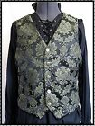 Black and green Regency Brocade Waistcoat Goth Steampunk Chap Wedding OBSIDIAN