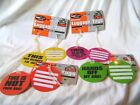 New Set 2 Neon Comical Luggage Tags Id Labels Round Orange Yellow Pink Green Pms
