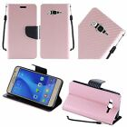For Samsung Galaxy On5 G550 Textured Design PU Leather Wallet Cover Case