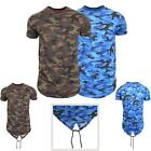 New Mens Army Top Short Sleeve Camouflage Fish Tail Casual Crew Neck T-Shirt