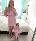 New Family Clothes Lady's Mother Daughter Matching Summer Baby Girl Dress Outfit