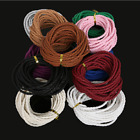 3mm 10 Colors Round Braided PU Leather Cord Rope String Diy Accessories Hot 5m