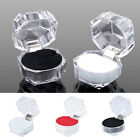 NEW Clear Acrylic Jewelry Gift Box for Ring holder wedding engagement present