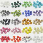 10/20 Pcs Czech Crystal Rhinestones Pave Clay Round Disco Ball Spacer Beads 10mm