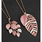 Equilibrium Rose Gold Plated Leaves Design Pendant Necklace Sold Individually