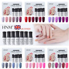 Nail Gel Polish Soak Off UV LED Nude Grey Red Pink 6 Colors Set w/ Gift Box HNM